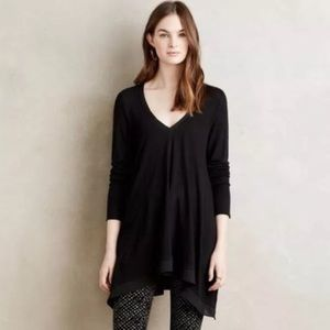 Anthropologie Deletta Lokka Black V-Neck Tunic
